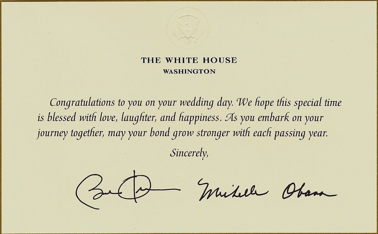white house wedding wishes