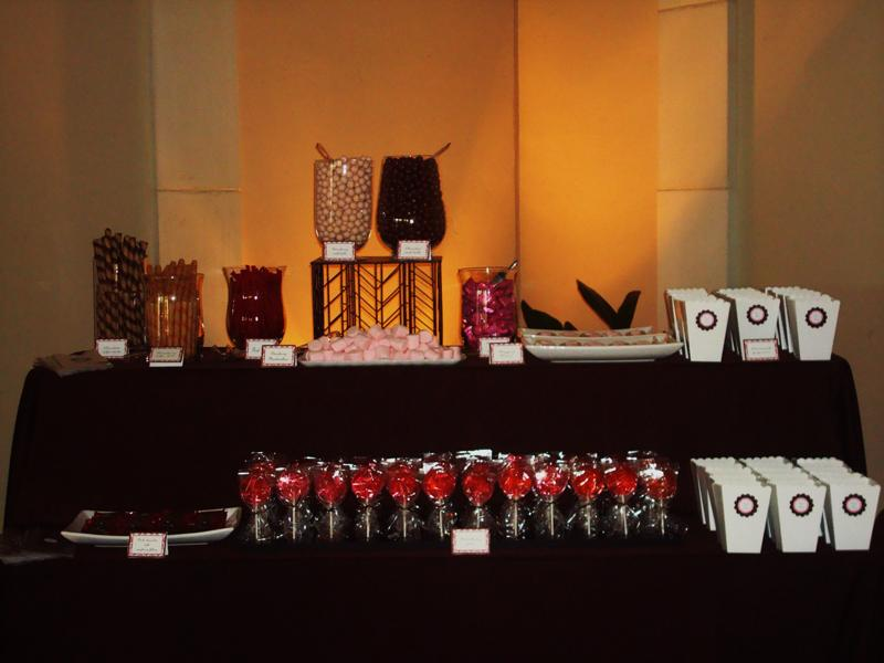 Candy tables are especially great for weddings because they give guests