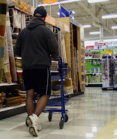 Steve encourages men to wear their legwear while running errands, such as the grocery store