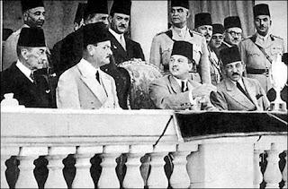 نتيجة بحث الصور عن الملك فاروق وحاشيته