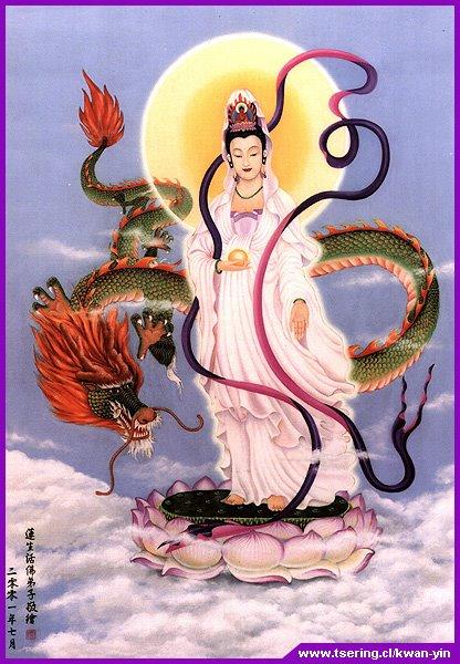 Kuan Yin Bodhisattwa Celestial da Compaixão