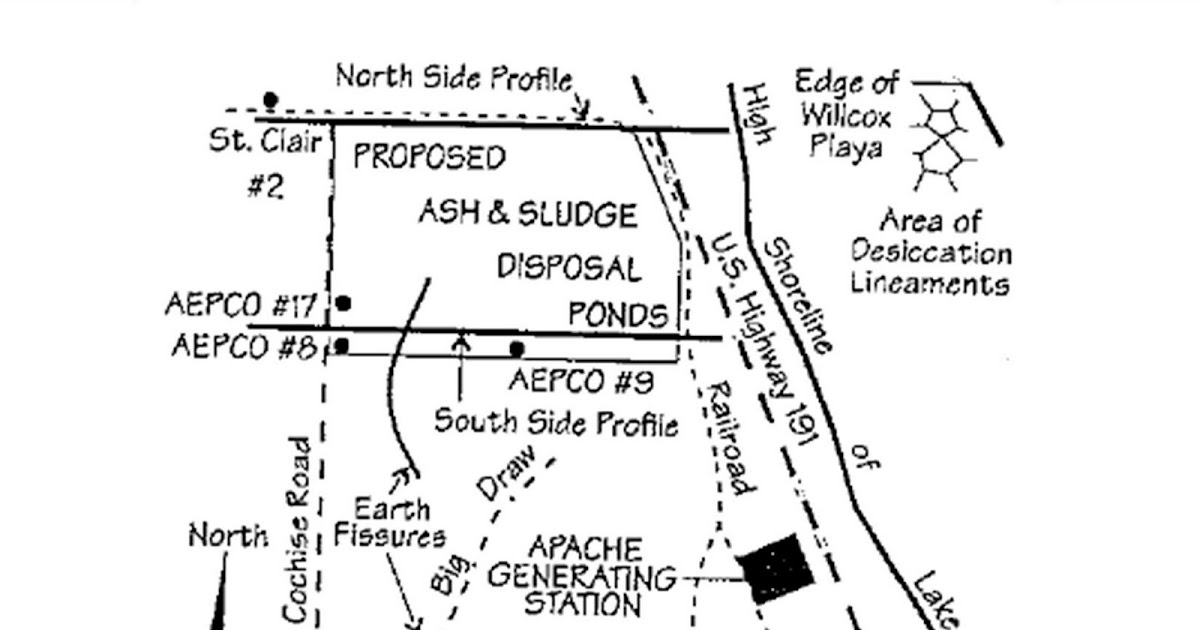 Arizona geology willcox coal ash pond was lined to for Design of ash pond