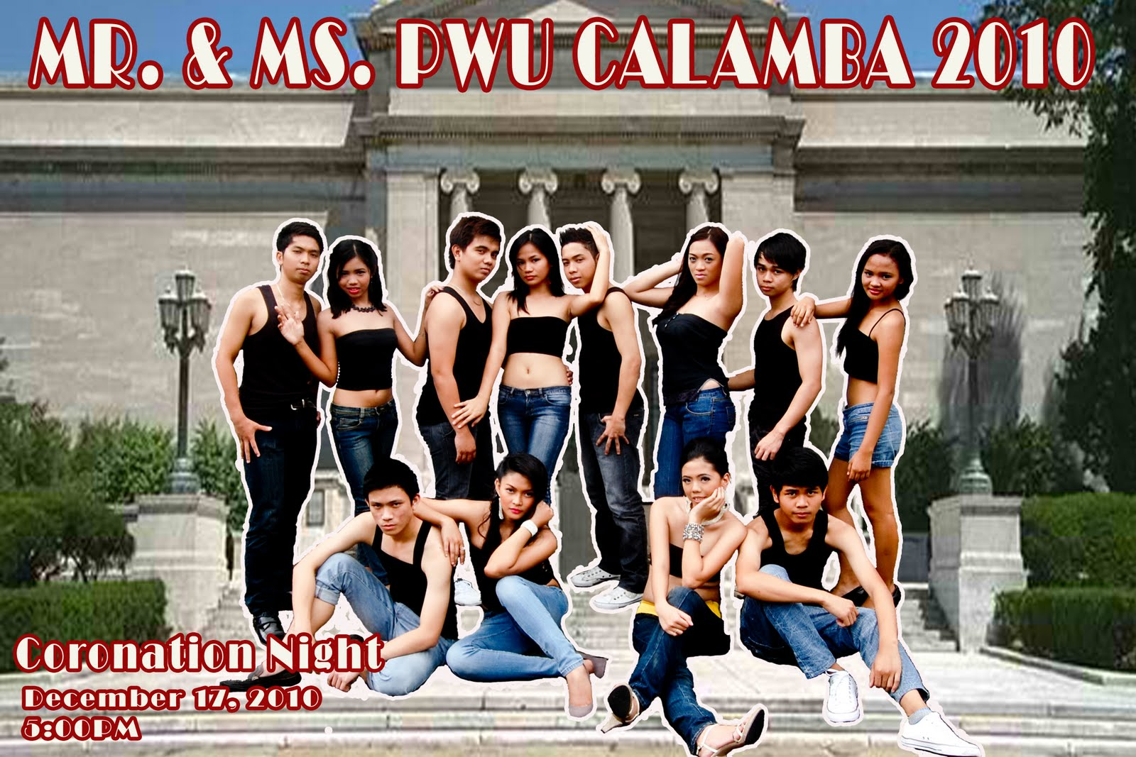 Candidates for Mr. and Ms. PWU Calamba 2010