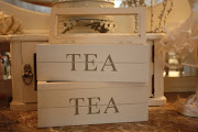 Trälåda att ha te i...