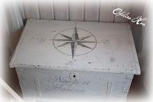 Här har jag dekormålat en kompassros.