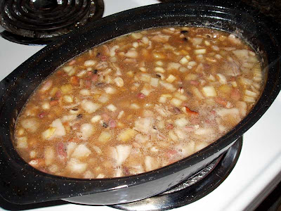 This is the beans after they have been cooking for about an hour.