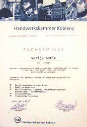 SERTIFIKAT Zanatske komore Koblenc iz Nemačke