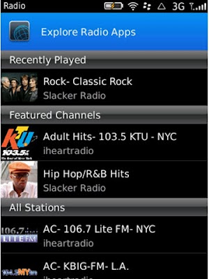 Radi App for BlackBerry