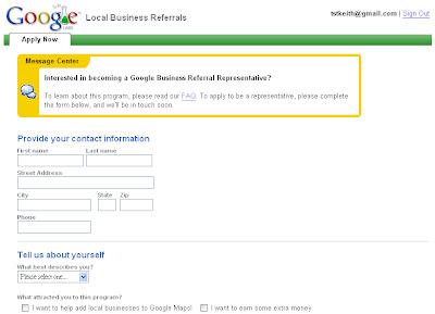 Local Business Referrals Program