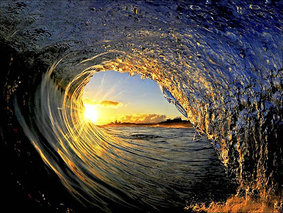 Sun ... glints off wave Sea water wave wallpapers