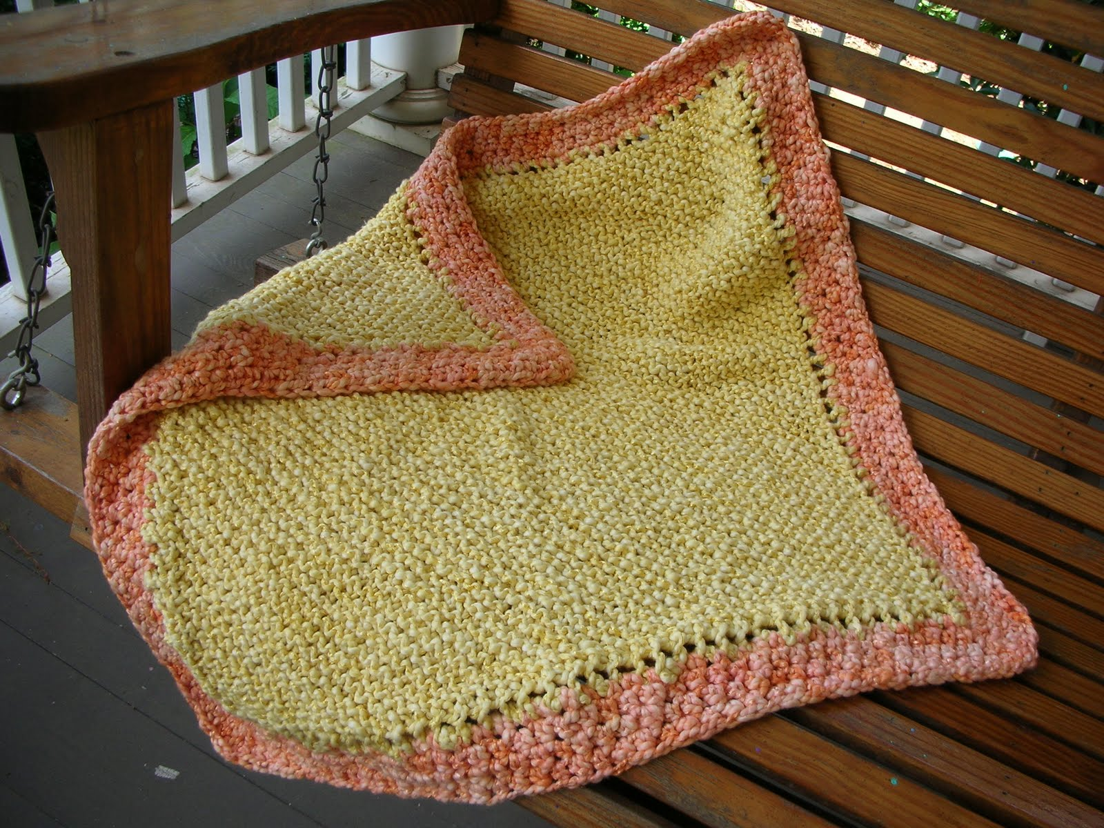 Knitting Pattern Using Cotton Yarn : lines... in pleasant places: Baby blanket in a bulky yarn