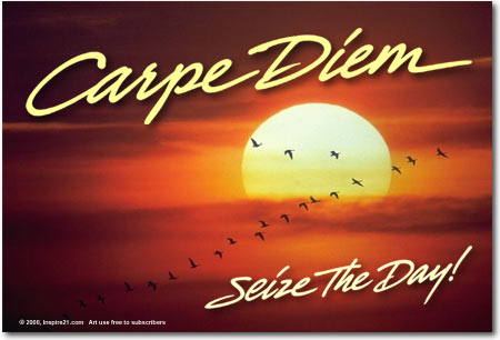 carpe diem seize the day essay Carpe diem: poems for making the most of the rallying cry of their classroom is carpe diem, popularized as seize the day, although more literally essays.