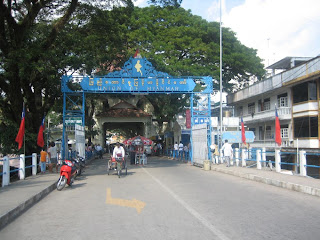 entering myanmar bridge
