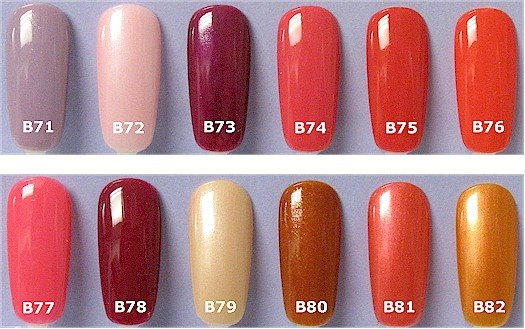 Nail Polish Opi Colors Chart To Bend Light