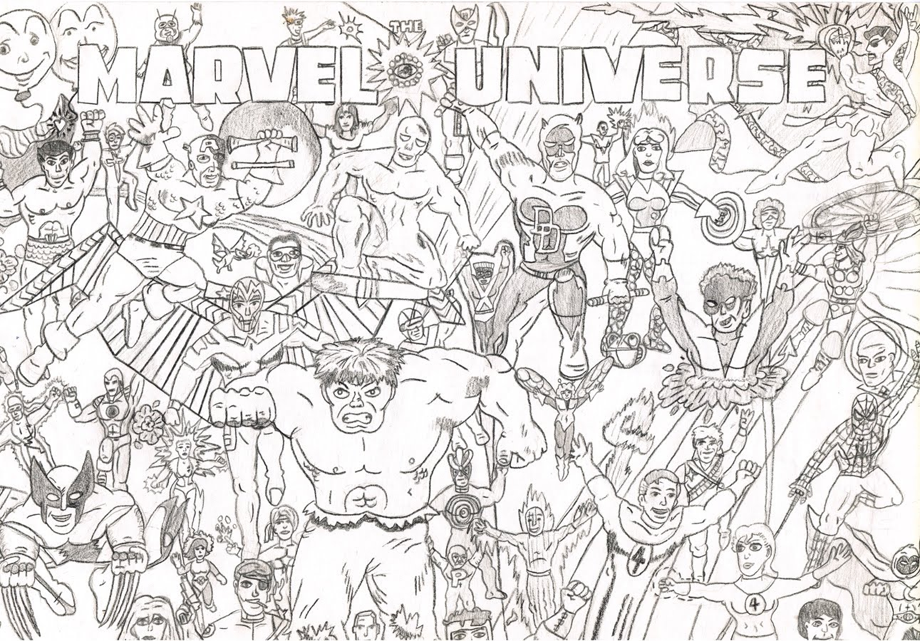 Zub Kid Drawing: The Marvel Universe | Zub Tales
