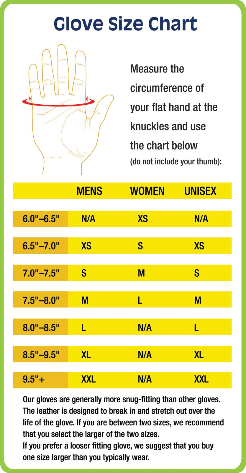 Mens sizes in gloves - Harbinger Fitness Glove Size Chart