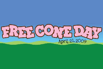 ... FREE CONE DAY at ben jerry s and you know what that means free ice