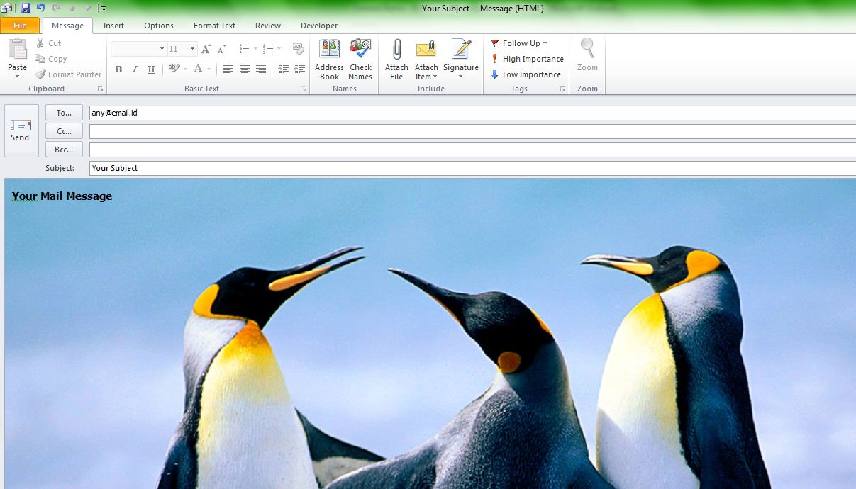how to create your own email background stationery in microsoft outlook 2010 or outlook 2007