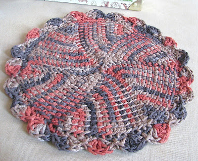 In The Round Dishcloth Crochet Pattern - Free Crochet