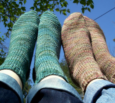 Sock Knitting Pattern For Beginners : Never Not Knitting: Beginner Socks