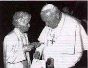 Margarida e o Papa João Paulo II