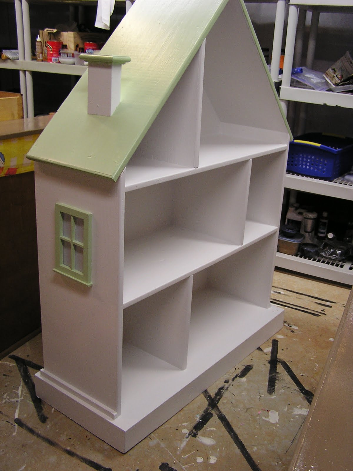 Jennifer S Furniture Painting Pottery Barn Kids Dollhouse Bookshelf