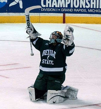 Bemidji State celebrates their Frozen Four birth in 2009