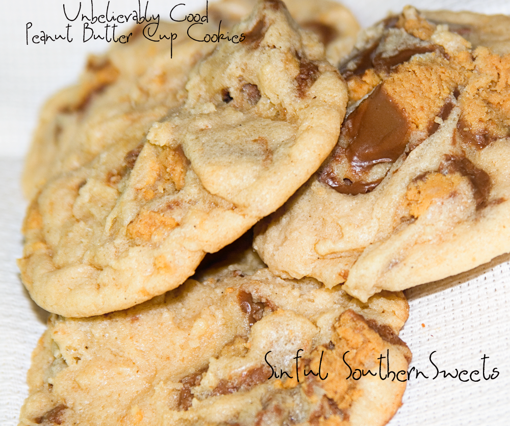 Sinful Southern Sweets: Unbelievably Good Peanut Butter Cup Cookies