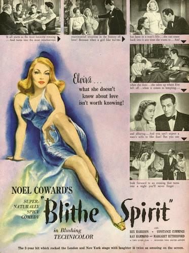 Poster Of Blithe Spirit 1945 Full Movie Download 300MB In Hindi English Dual Audio 480P ESubs Compressed Small Size Pc Movie