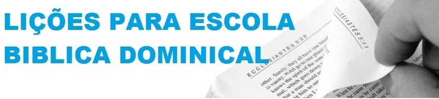 Lies para Escola Dominical