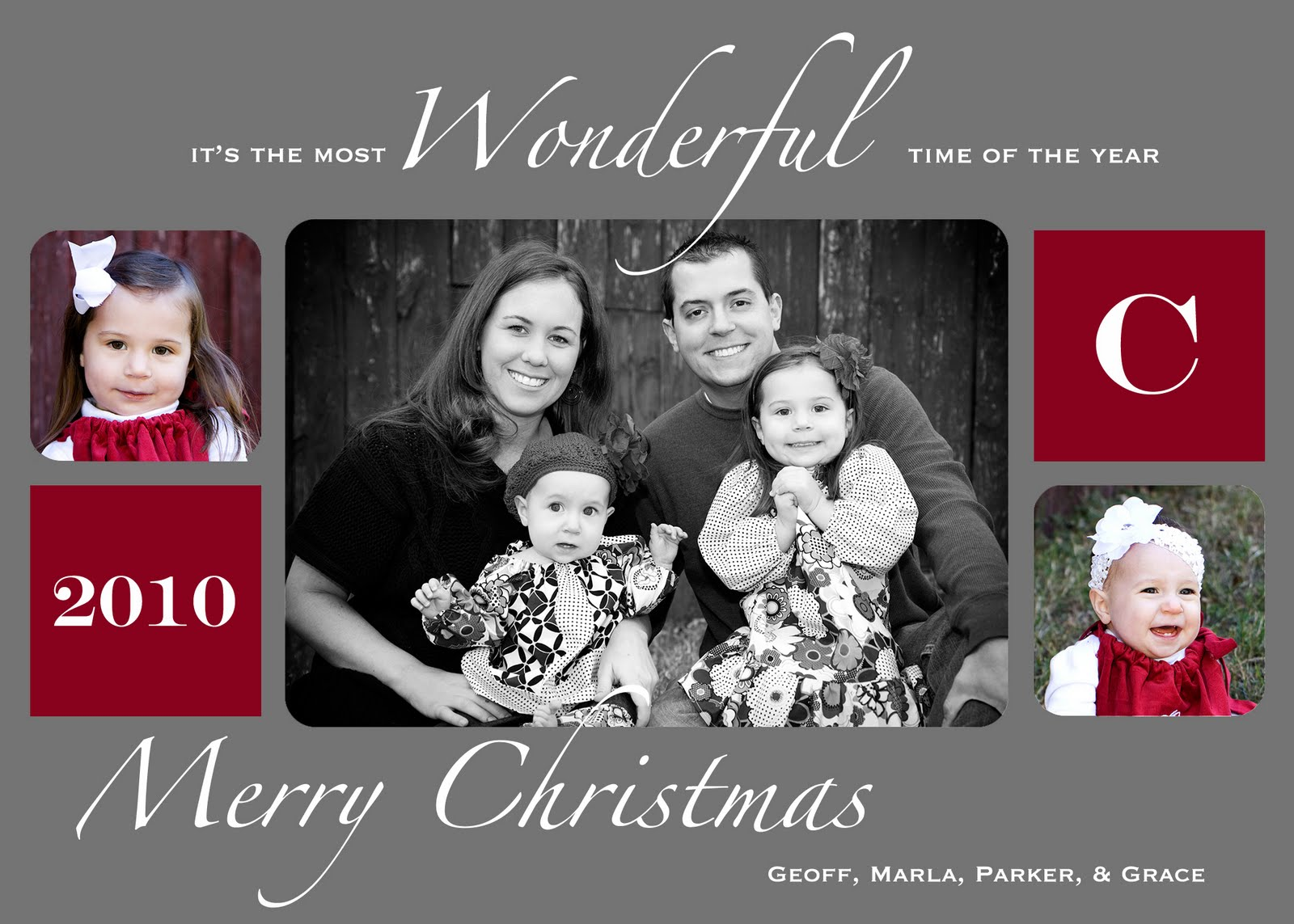 better than i could have imagined: Our Christmas Card: Past ...
