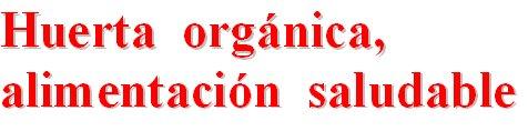 Huerta  orgánica, alimentación  saludable