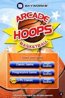 Arcade Hoops Menu
