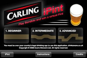 The Carling iPint app tilt control game