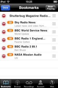 TuneIn Radio app bookmark your favourite stations