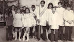 Año 1971, visita a la plaza de Carmen de Areco