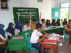 Suasana Musyawarah Umum Anggota (MUA) OSIS Periode 2008/2009