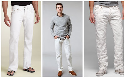 Male White Jeans - Jon Jean