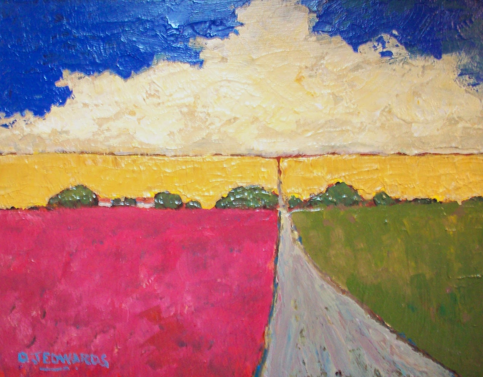 Palette knife painters new painting by david edwards for Palette knife painting acrylic