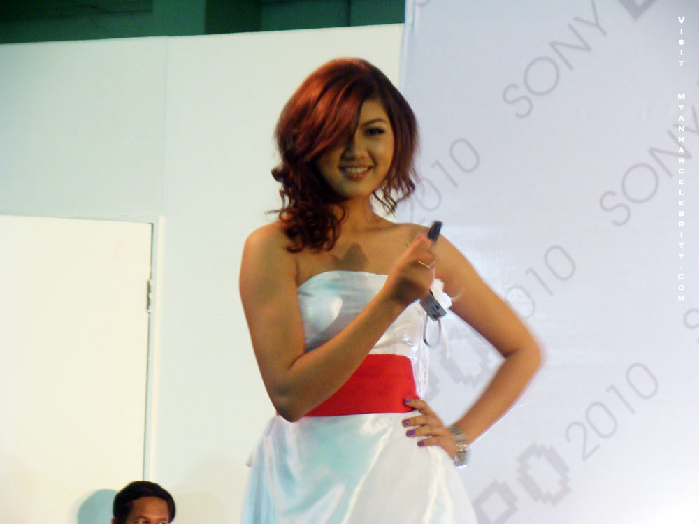 Myanmar Model, Chan Me Me Ko at Sony Make Believe Expo 2010