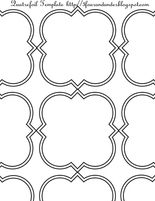 Quatrefoil stencil outline
