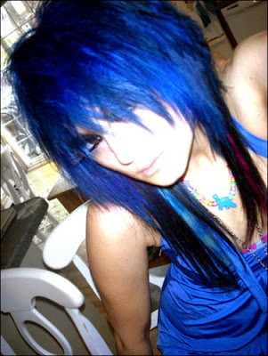 blue emo girls hairstyles Multi Color Emo Hairstyles Fashion
