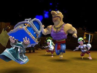 Dungeon Party is a free online game that is played in teams. You are plunged into a totally crazy, heroic-fantasy world, where you compete in teams of heroes in dungeons full of deadly traps and awesome monsters to win the treasures they are trying so hard to hide. In Dungeon Party, you create your character and customize him using a vast range of different outfits and items. From the enthusiastic wizard to the wise-guy thief, via the executioner who ain't exactly a sweet old grandma, anything goes! Each player equips his character with various objects and weapons before sending him into battle against the different teams. You will have to develop your character during the matches and select his spells and special abilities very carefully to maximize his efficiency in the team.