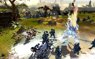 BattleForge is a card based RTS (Real-time strategy). It revolves around trading, buying and winning through means of micro-transactions.