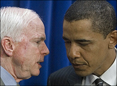 McCain flies his campaign past Obama