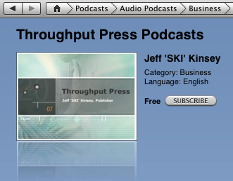 SKI on Throughput Press Podcast on iTunes