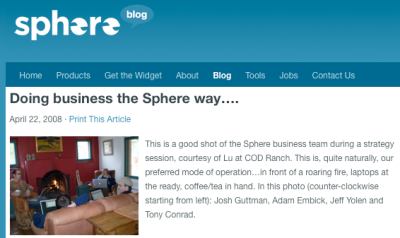 sphere blog