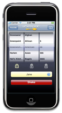 Urbanspoon iPhone app