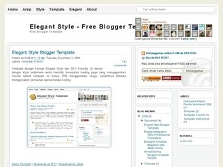 SEO Friendly Blogger Template 2010