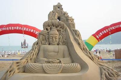 Patung Budha Dari Pasir